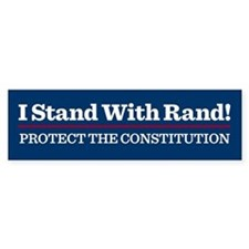 I Stand With Rand Bumper Car Sticker