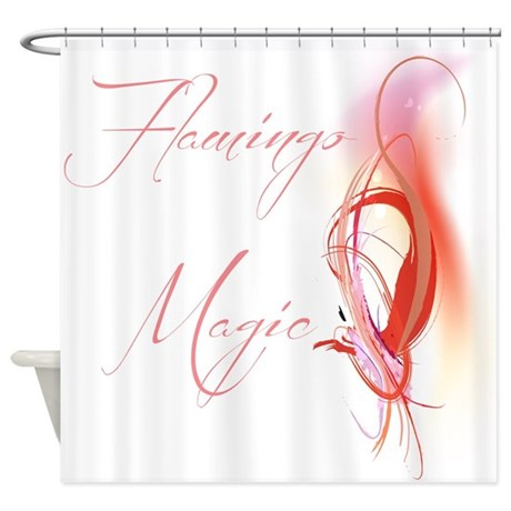 Abstract Flamingo Magic Shower Curtain