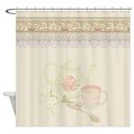 Vintage Tea Shower Curtain