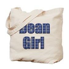 Dean Girl (blue plaid) Tote Bag
