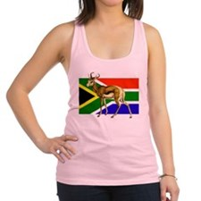 South Africa Springbok Flag Racerback Tank Top