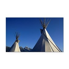 Native American teepees Rectangle Car Magnet
