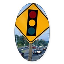 Traffic signal sign Decal
