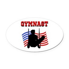 ALL AROUND GYMNAST Oval Car Magnet