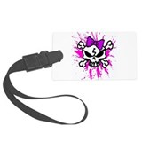 Girly Skull Luggage Tag