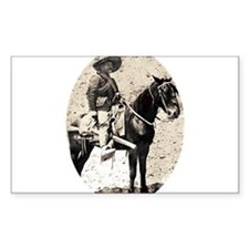 Pancho Villa Oval Decal