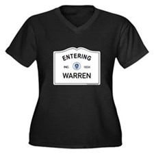 Warren Women's Plus Size V-Neck Dark T-Shirt
