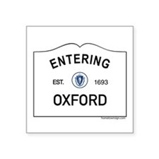 "Oxford Square Sticker 3"" x 3"""