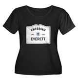 Everett Women's Plus Size Scoop Neck Dark T-Shirt