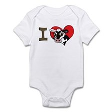 I heart cows Infant Bodysuit