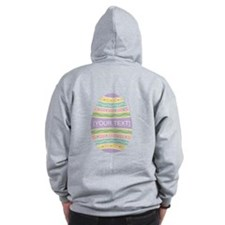 Your Text Easter Egg Zip Hoodie
