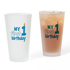 First Birthday Drinking Glass