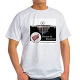 Ash Grey Nation in Distress T-Shirt