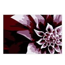 Deep Purple Flower Postcards (Package of 8)