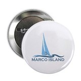 Marco Island - Sailing Design. 2.25&quot; Button