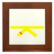Yellow Belt Framed Tile