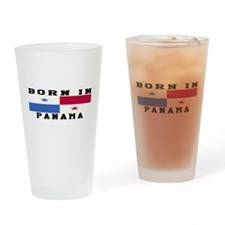 Born In Panama Drinking Glass