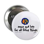 "War Peace symbol 2.25"" Button (100 pack)"