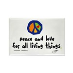 War Peace symbol Rectangle Magnet (10 pack)