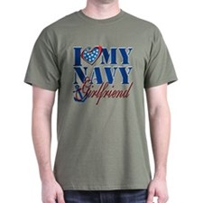 I Love My Navy Girlfriend T-Shirt