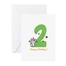 Second Birthday Bunny Greeting Cards (Pk of 10)
