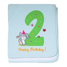 Second Birthday Bunny baby blanket
