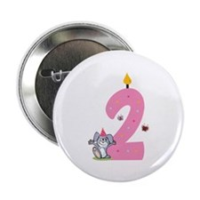 """Second Birthday Bunny 2.25"""" Button (10 pack)"""