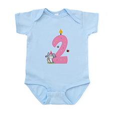 Second Birthday Bunny Infant Bodysuit