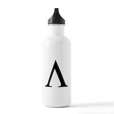 Greek Lambda Spartan Symbol Water Bottle