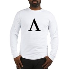 Greek Lambda Spartan Symbol Long Sleeve T-Shirt