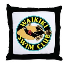Waikiki Swim Club Logo Throw Pillow