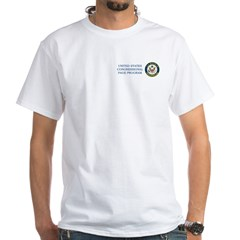 US House of Pedofiles Seal White T-Shirt