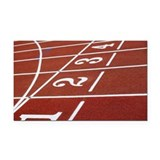 Lanes on a running track Rectangle Car Magnet