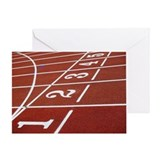Lanes on a running track Greeting Card