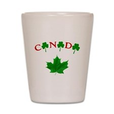 Canadian Irish Shot Glass