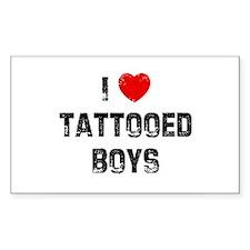 I * Tattooed Boys Rectangle Decal