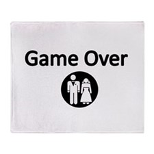 Game Over Bride and Groom Throw Blanket
