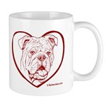 Bulldog Heart Mug
