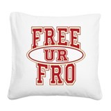 FreeUrFroCnC10x10 Square Canvas Pillow