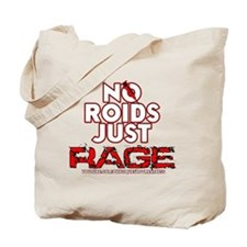 No Roids Just Rage (Black) Tote Bag