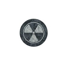 Distressed Gray Radiation Symbol Mini Button (10 p