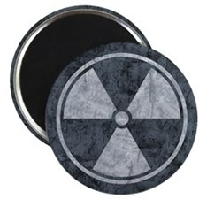 Distressed Gray Radiation Symbol Magnet