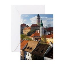Czech Republic, Prague, Cesky Krumlo Greeting Card