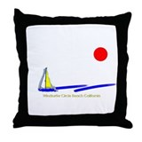 Windsurfer Circle Throw Pillow
