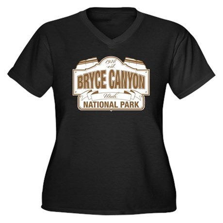 Bryce Canyon Women's Plus Size V-Neck Dark T-Shirt