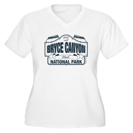 Bryce Canyon Blue Sign Women's Plus Size V-Neck T-