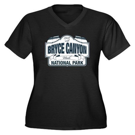Bryce Canyon Blue Sign Women's Plus Size V-Neck Da