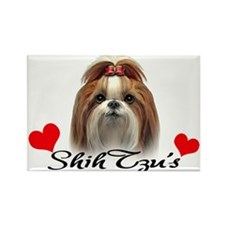 Love Shih Tzu's Rectangle Magnet