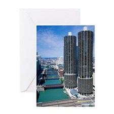 USA, Illinois, Chicago, Marina City  Greeting Card