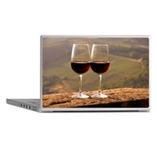 Two wine glasses filled with Chianti  Laptop Skins
